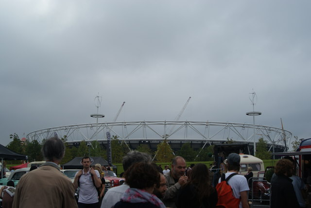 View of the Olympic Stadium from the Classic Car Boot Sale #3