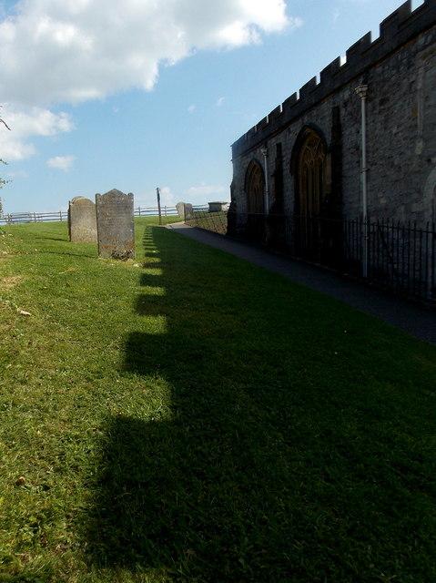 Lyme Regis: path through church shadow