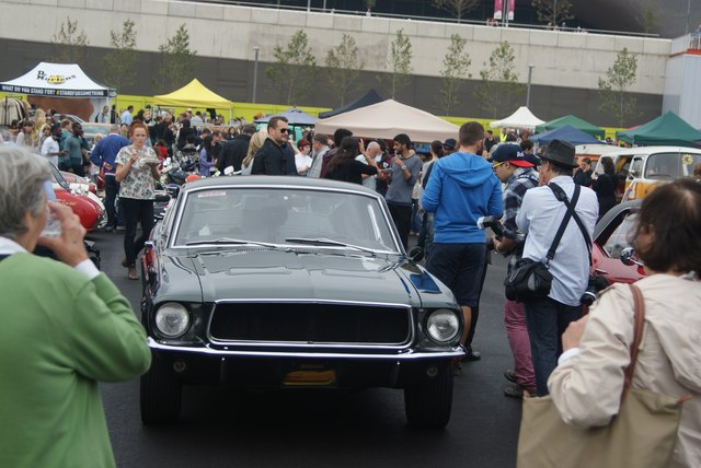 View of a Ford Mustang Cabrio in the Classic Car Boot Sale #4