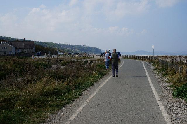 Wales  Coast Path at  Llanddulas