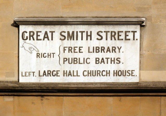 Old street sign, Great Smith Street