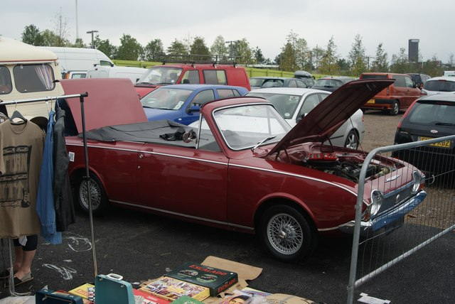 View of a Ford Corsair in the Classic Car Boot Sale