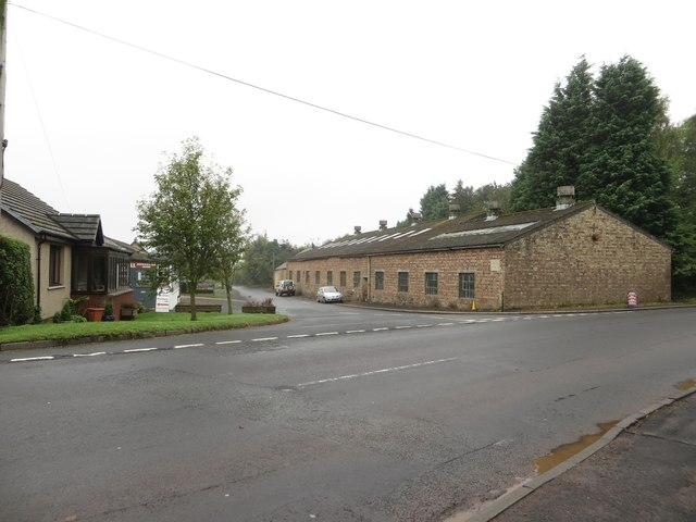 Road junction at Clockmill