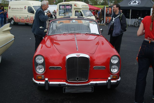View of an Alvis TF-21 in the Classic Car Boot Sale