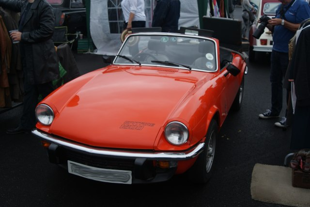 View of a Triumph Spitfire 1500 in the Classic Car Boot Sale