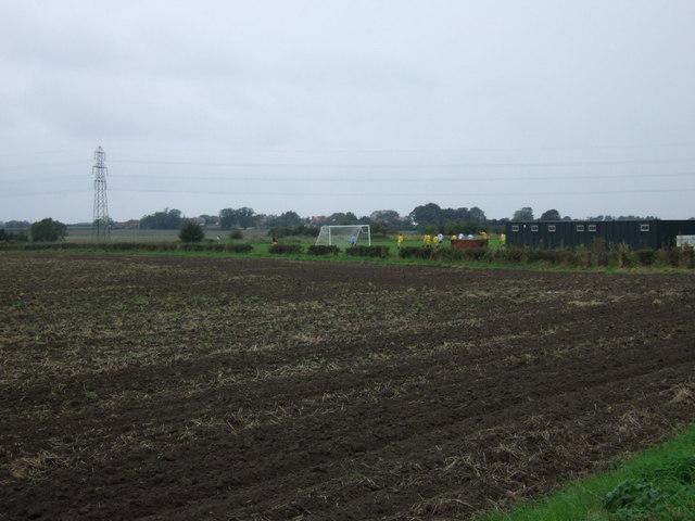 Farmland and football field