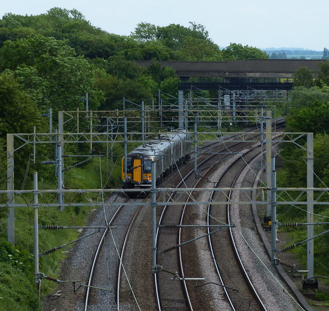 Train on the West Coast Main Line
