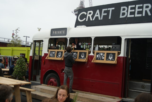 View of the Craft Beer Bus from the Classic Car Boot Sale