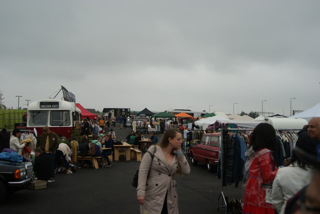 View of the Classic Car Boot Sale from the entrance