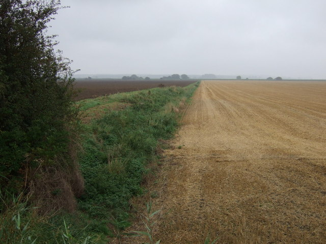 Stubble field and drain