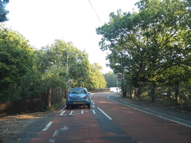 Pixham Lane at the junction of Reigate Road