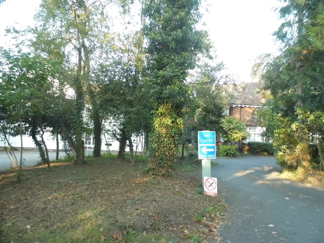 Entrance to nursing home on Pixham Lane