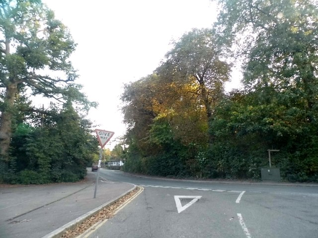 Norwood Hill Road at the junction of The Street