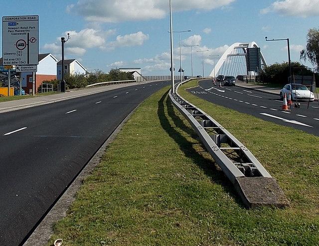 Towards City Bridge, Newport