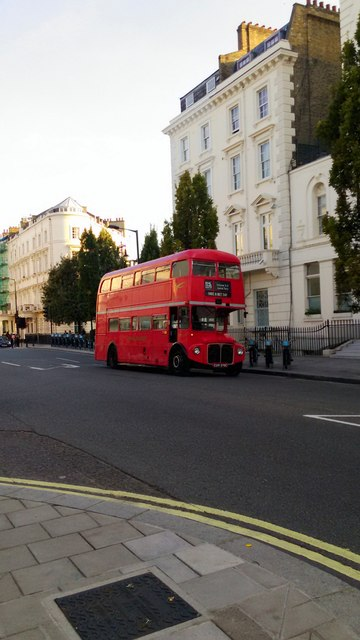 Routemaster Bus on Belgrave Road