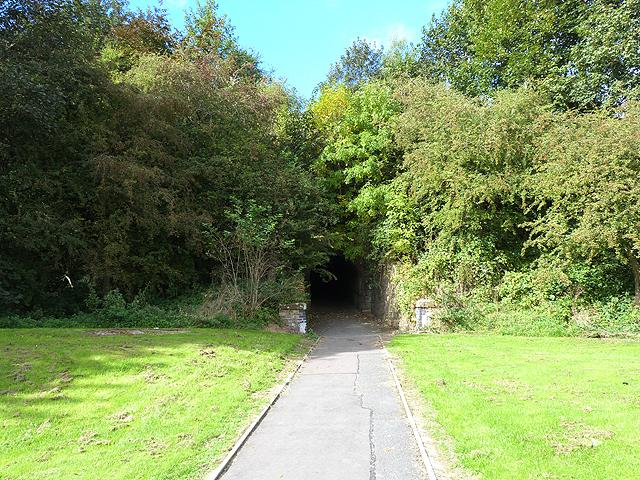 Pedestrian tunnel under the old Waverley line