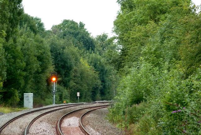 Railway north of Wilmcote Station, Warwickshire