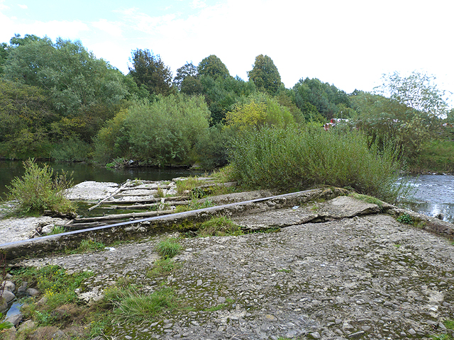 Old weir on the River Teviot
