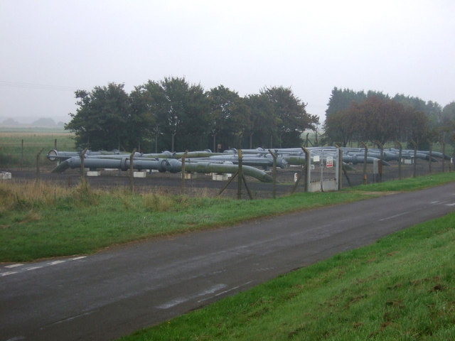 Gas valve compound near the River Trent
