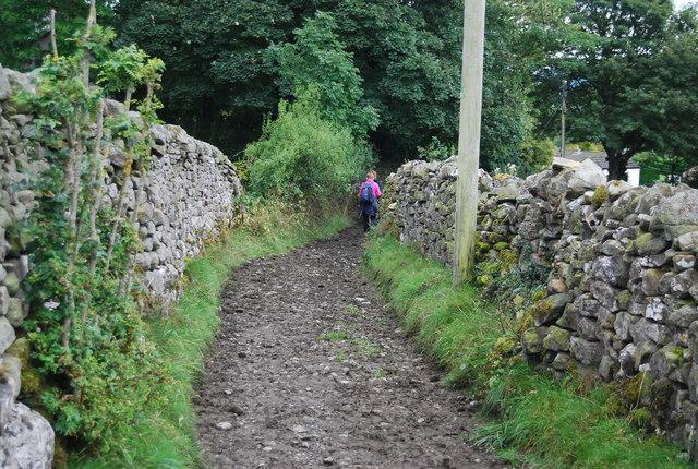 Back Lane heading to Mill Lane