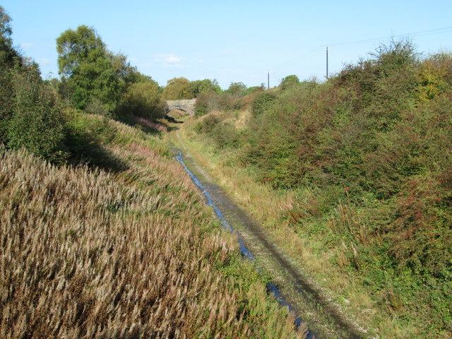 Course of railway line near Winkhill