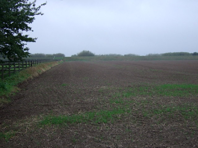 Flat farmland near drain