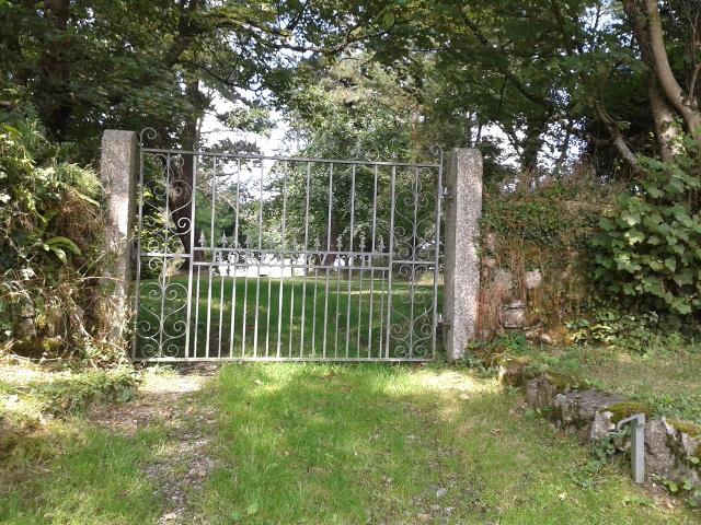 Gateway into grounds at Borlasevath