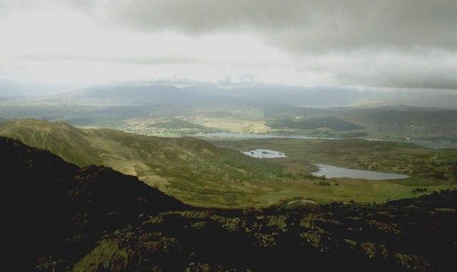On the summit ridge of Cross Craigs