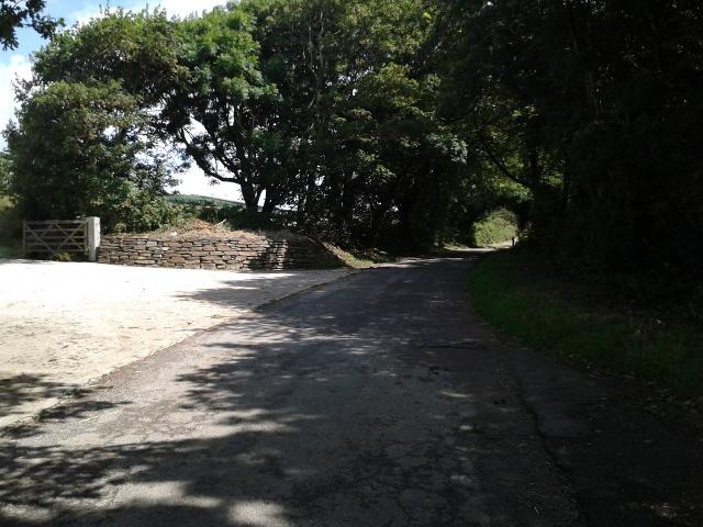 Lane in deep shadow