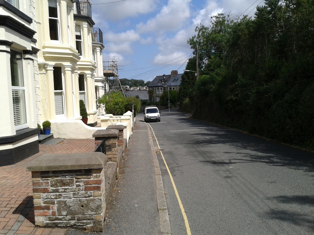 Houses and car in Wadebridge