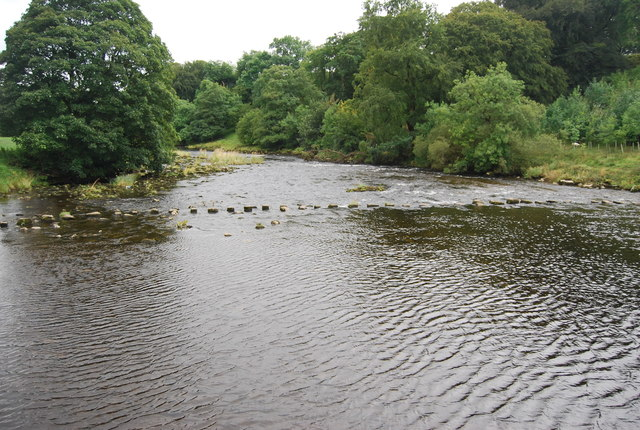 Stepping stones, River Wharfe