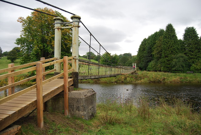 Suspension Bridge across the River Wharfe