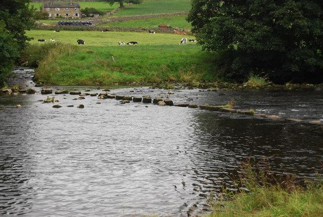 Stepping stones, River Wharfe