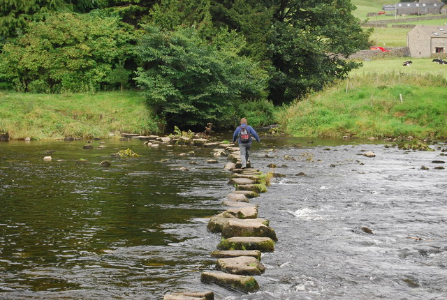Crossing the River Wharfe