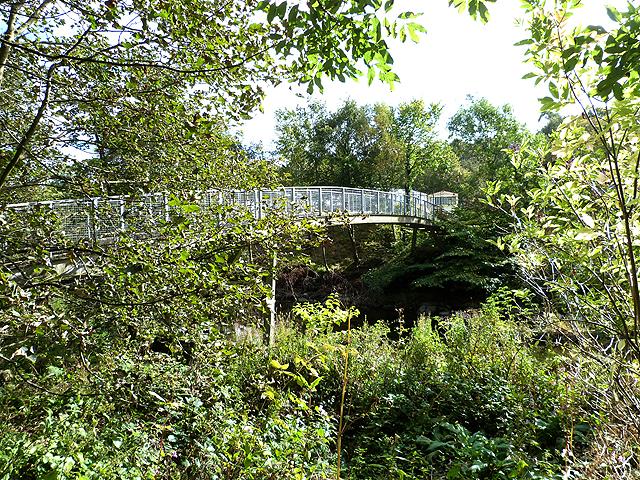 Pipe bridge over the River Teviot