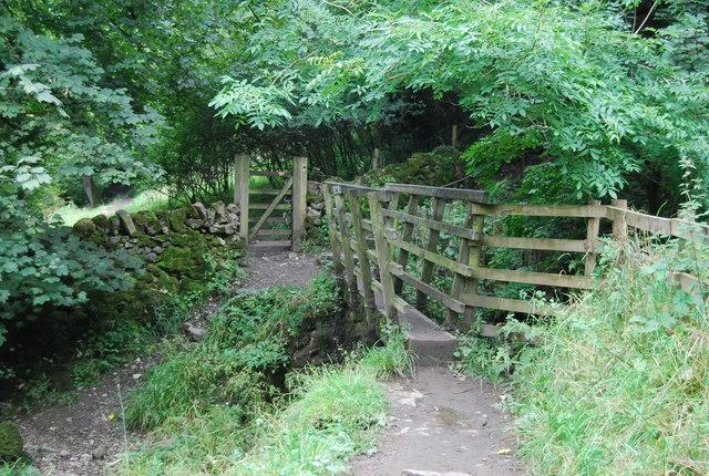 Dales Way crosses Sandbed Beck