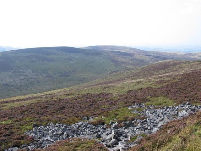 Rock outcrop above Gairs