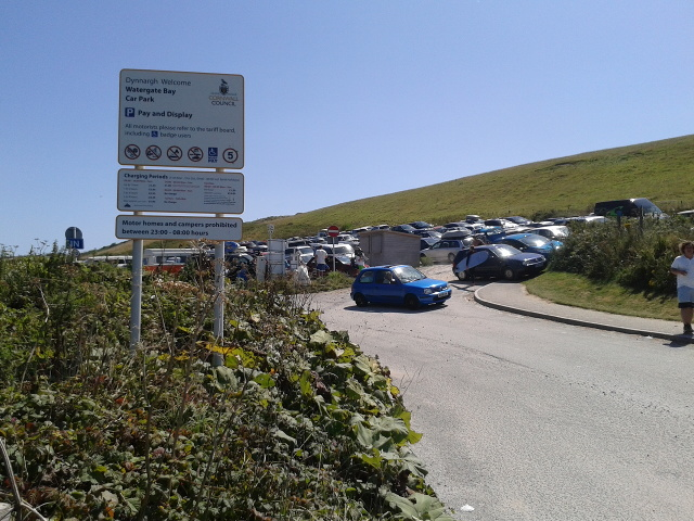Watergate Bay car park