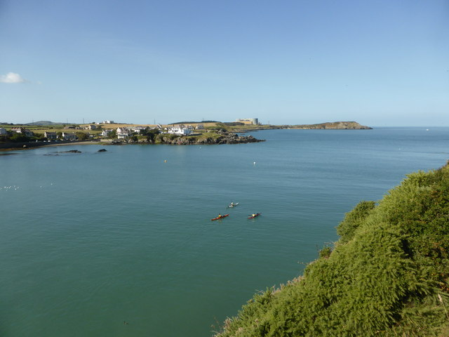 Looking across Cemaes Bay