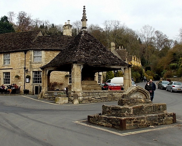 Butter Cross and Market Cross in Castle Combe