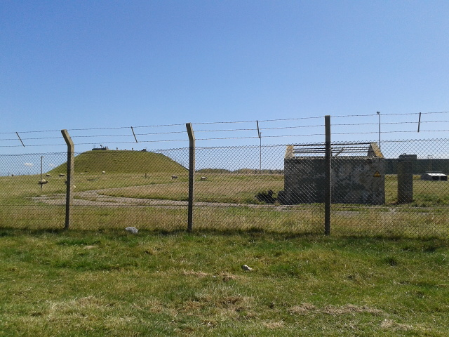 Fence around Newquay Airport