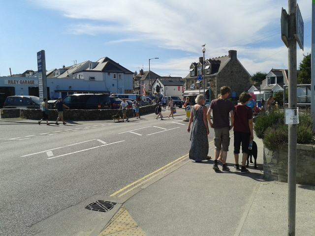 Pedestrians in Perranporth