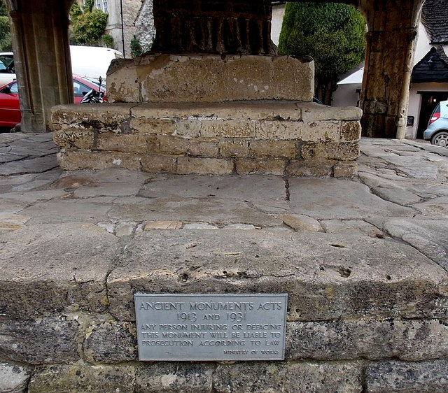 Ancient Monuments Acts 1913 and 1931 notice, Castle Combe