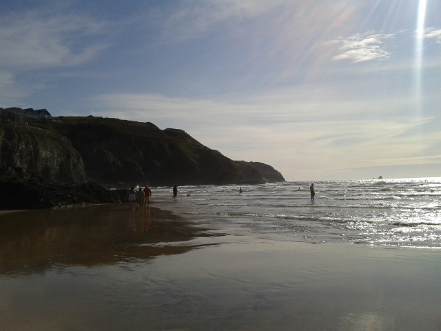 Late afternoon at Perranport beach