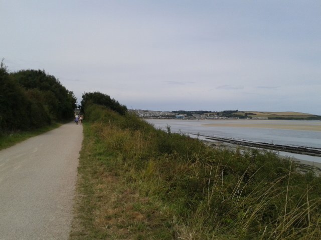 On the Camel Trail, Padstow in the distance