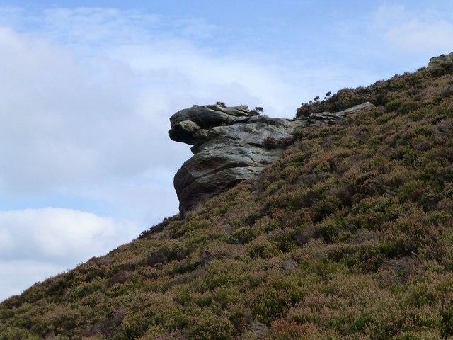 Crag at west end of Long Crag