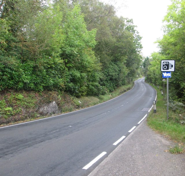 Looking north on the B833