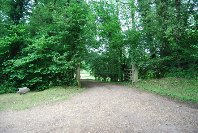 Gated entrance off Butcherfield Lane