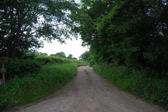Farm track to North Clays