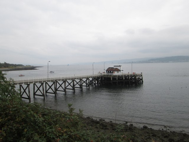 The pier and ferry terminal at Kilcreggan